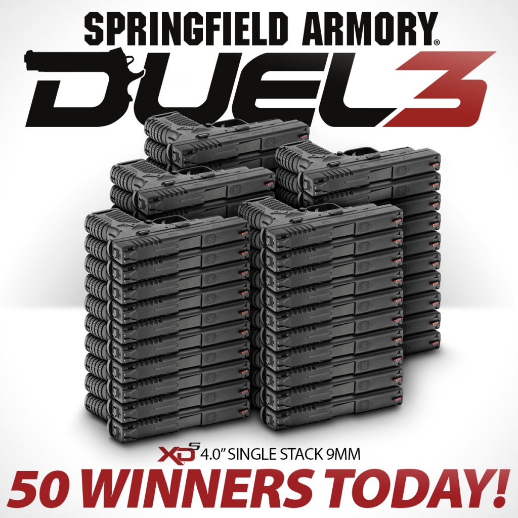 Springfield Armory is Giving away fifty, that's 5-0 guns today!!!