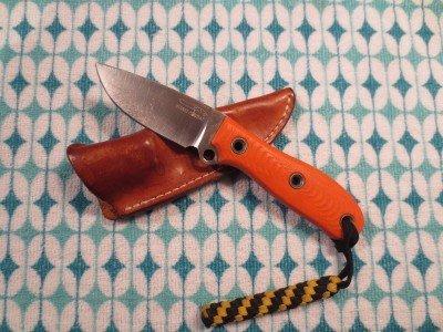 Sheath and knife.