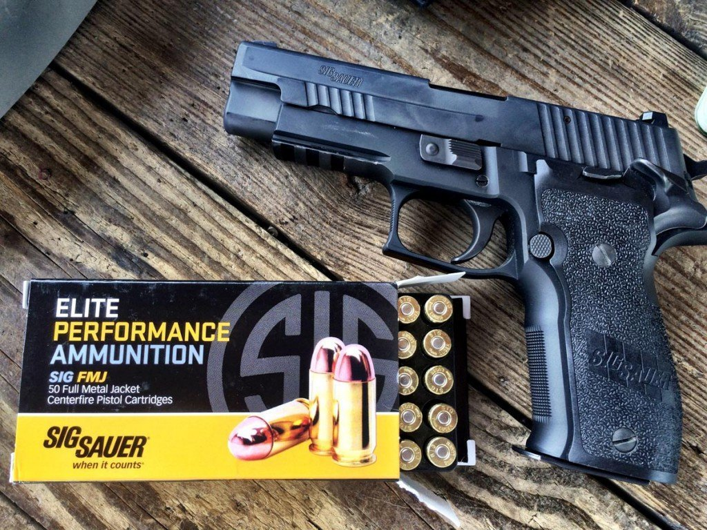 For the 9mm testing, I figured I would keep things in the family, so I used this Sig Sauer P226 Elite SAO.