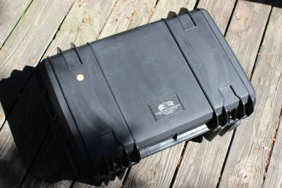 The 8 pistol case is about the size of a carry-on bag.