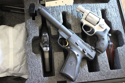The revolver case is ideal for longer pistols, too.