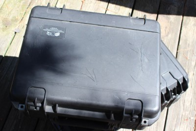 The revolver case. Fairly nondescript from the outside.