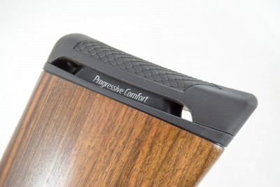 Most of the Progressive Comfort recoil system is inside of the stock.