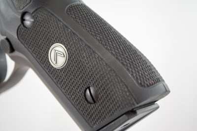 The Legion comes with two-piece G10 grips.