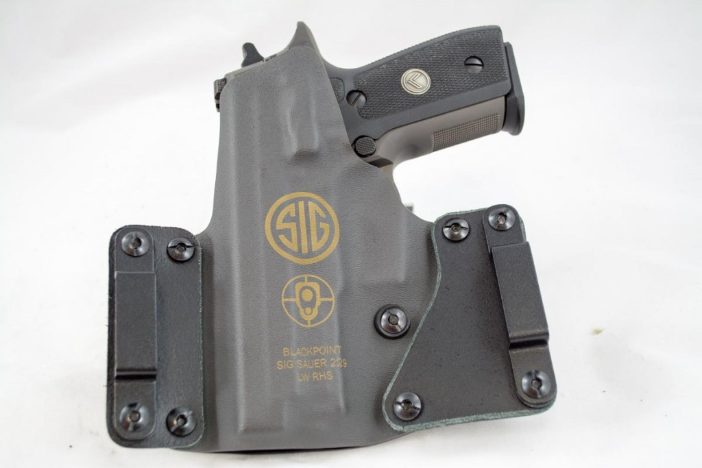 The BlackPoint Tactical holster uses leather wings for comfort and a Kydex shell for durability and security.