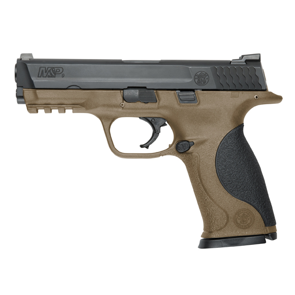 If it's going to just sit around, you might as well get this sharp looking flat dark earth two-tone M&P 9mm.