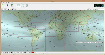 This is a screen shot of DX Atlas. The overlay is the F2 layer of the ionosphere, and it shows where you might be able to reach if you are in a certain spot.  From South Florida, on this map, I could possibly reach into Morocco and the Western provinces of Canada right now.