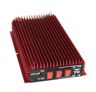 This 150 watt linear amplifier is just over $100s, and runs on the same 13.4 volts that power your radios.