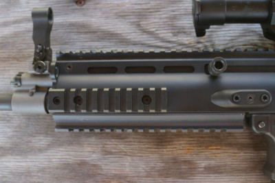 One advantage of the SCAR platform is flexibility. There is more than enough rail space.