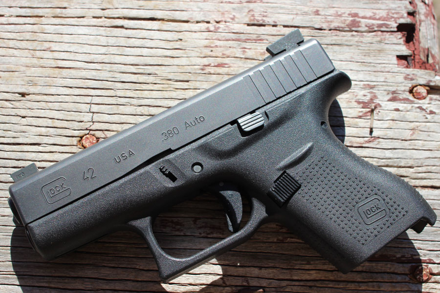 The sights on the GLOCK 42. They're sized for the 17, and 19--but fit the 42.