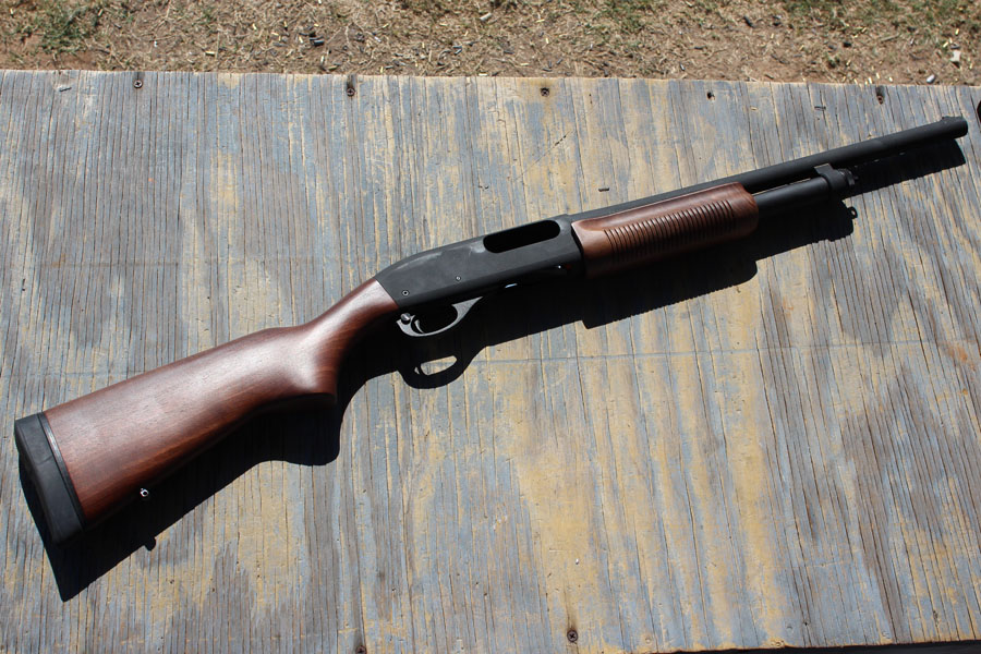 The unassuming Remington 870P (Police Magnum).