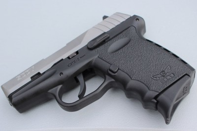 The double-stack mags hold 10 rounds. They sacrifice capacity for a shorter grip.