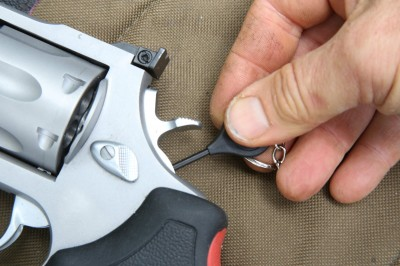 The Taurus hammer lock security system is a great extra measure to prevent unintended use of your firearm.