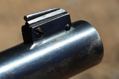 Old school front adjustable sight.