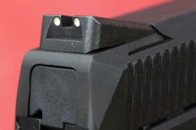 The rear sight.