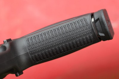 Grip texture is aggressive and effective.
