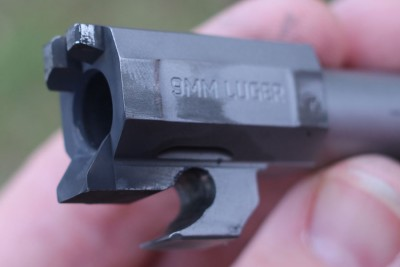 The caliber markings are clear, useful in a gun that might end up with modular options.