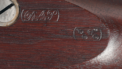 Inspectors Stamps on the stock of an original 1861 Colt Contract Musket