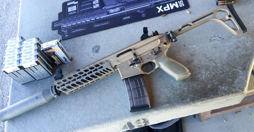 Sig's MCX in 300 Blackout.