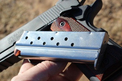 Both run on Springfield's 9mm mags, and we had no issues with them, at all.