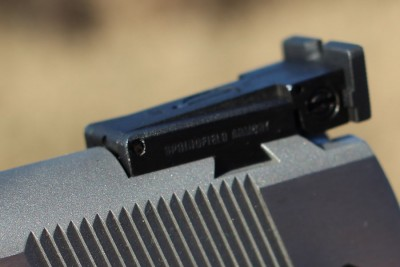Part of what many find appealing about the RO line is the adjustable rear sight.