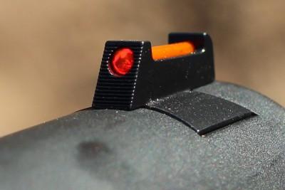 Fiber optic front sights.