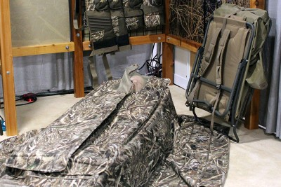 The blind at SHOT Show was not staked down.