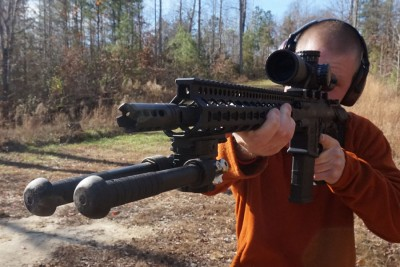 The recoil pushed back instead of rocking the muzzle up, which means easily repeatable accuracy with shorter split times.