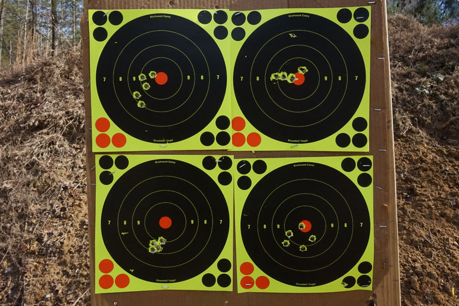 Four representative targets shot with the DD5V1. These are with ZQI's M80 ball.
