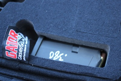 Though the SIG is a tight squeeze, there would be no issue concealing a GLOCK 17 or a 1911.