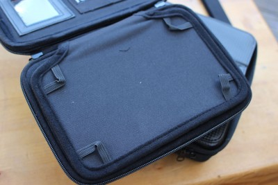 A flap inside the case keeps a gun covered, but immediately accessible.