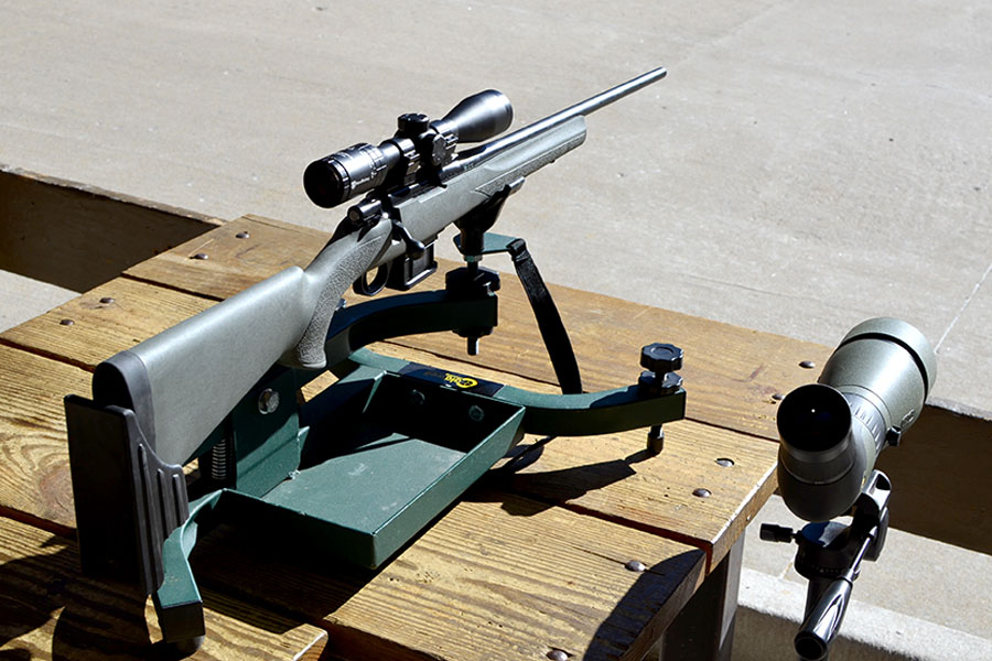 Many of the Howa rifles are available as packages, with scopes ready for sighting in.