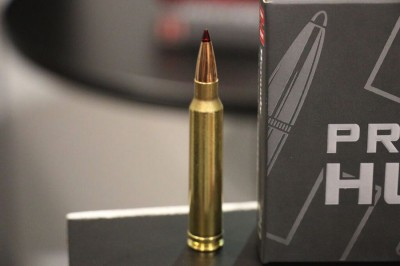 A close up of the new round, Hunter Precision.