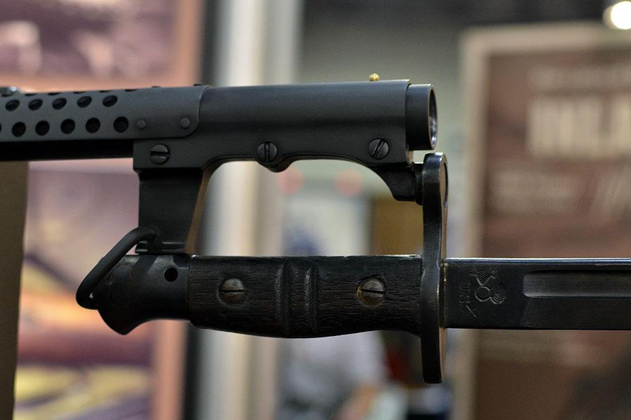 Ithaca 37 Trench Shotgun w/Bayonet From Inland + Threaded M1 Carbines & SBR Pistols – SHOT Show 2016