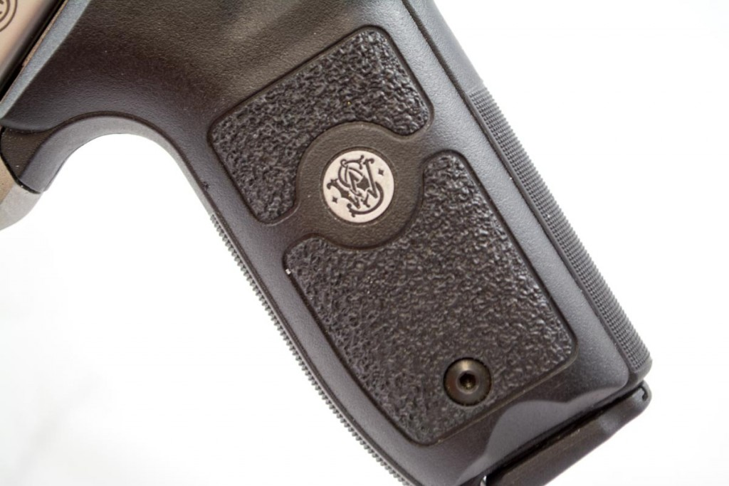 The polymer grip resembles that of the Model 22A.