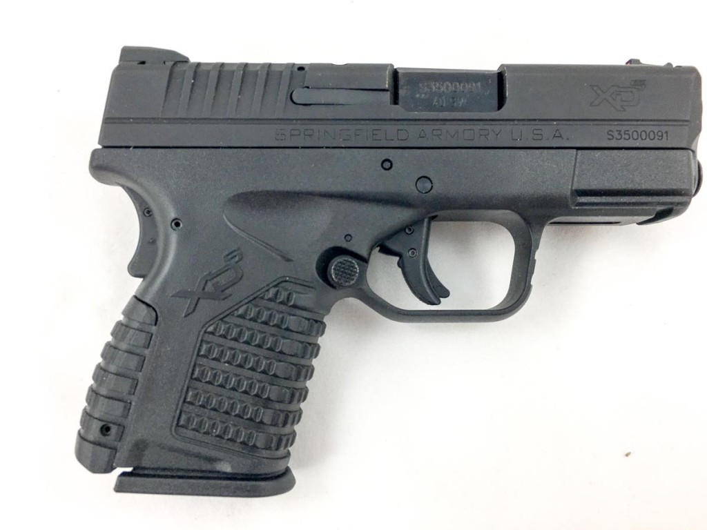 Springfield Armory XD-S .40 caliber, right side.