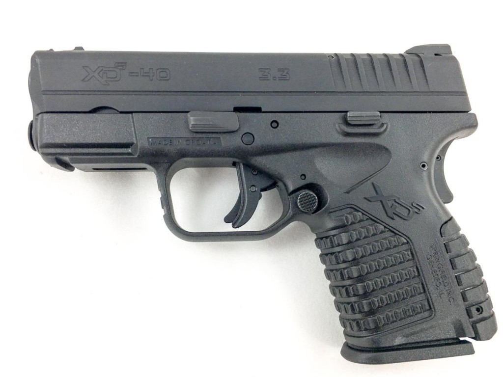 Springfield Armory XD-S .40 caliber, left side.