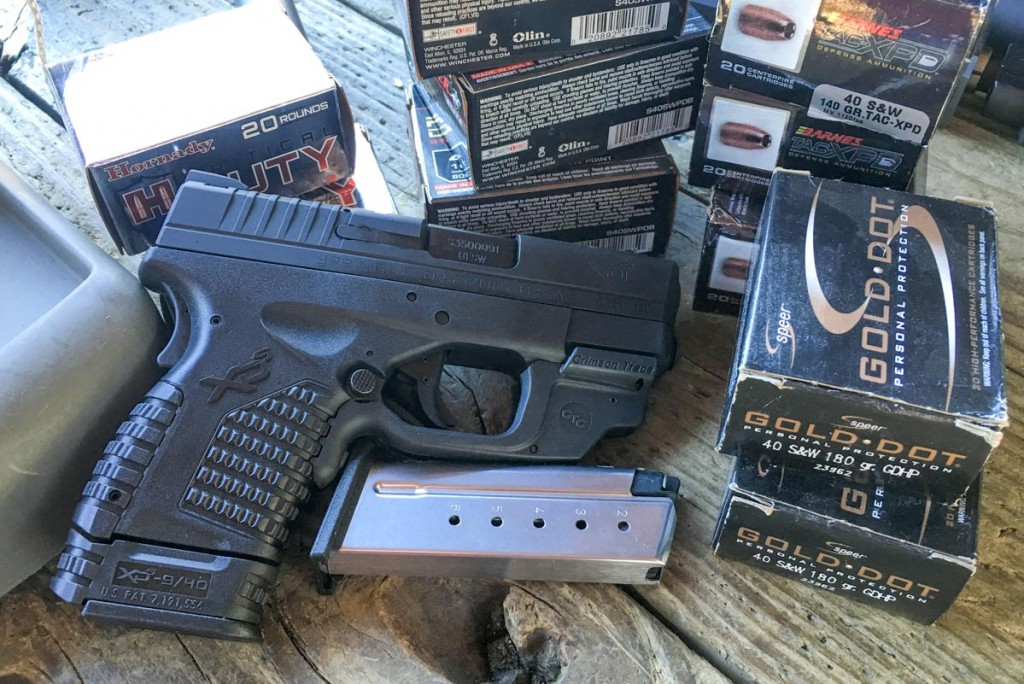 I tested several common self-defense loads with widely varying bullet weights.