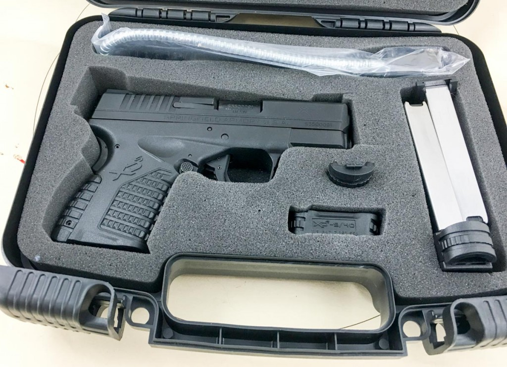 The basic gun includes a small hard case with lockable catches, a flat base and extended magazine, grip size adjustment and the standard gun lock.