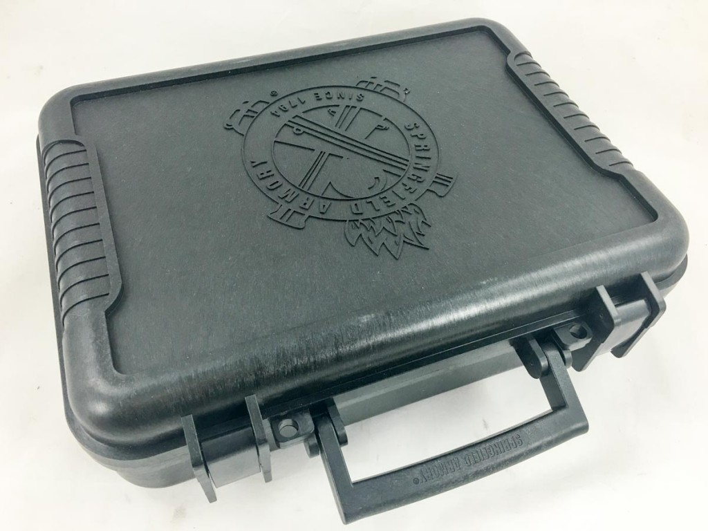 This new XD-S comes in an all-new small case. It's sturdy and TSA ready with latches and two holes for padlocks.