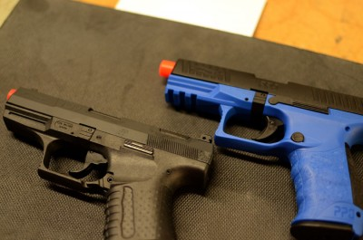 The blue frame helps distinguish that this isn't a centerfire PPQ.