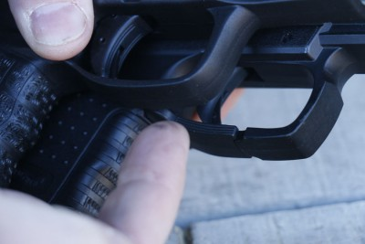 25.The trigger guard has been reshaped with smoother lines, it still retains its ability to shoot with gloves.