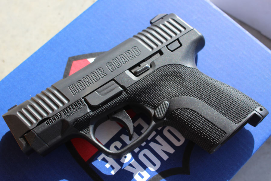 The Honor Guard from Honor Defense. A new gun from a new company. Made in Gainsville, Georgia.