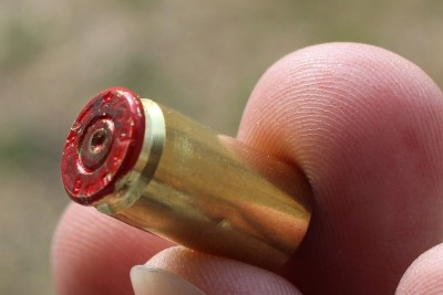 9mm over-pressure test round. Do not reload.