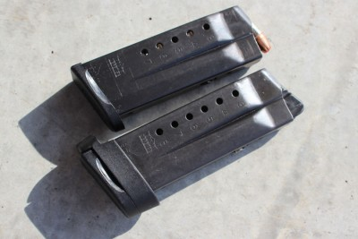 The 7 and 8 round mags both functioned well.
