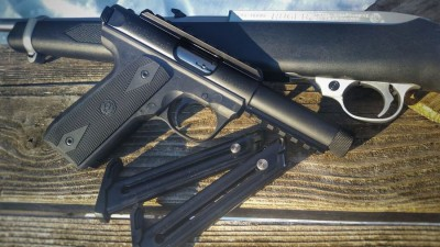 Ruger 10/22 and Ruger .22 /.45 Both can be used for Steel Challenge competitions.