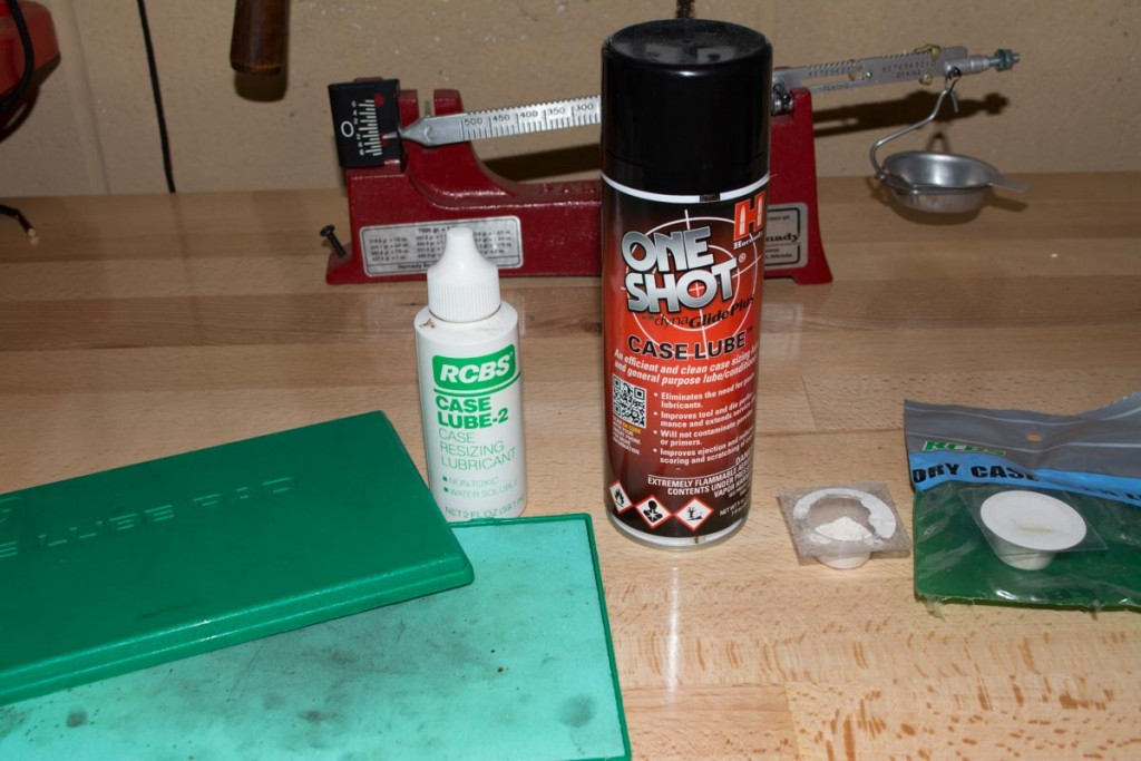 When resizing bottleneck cartridges, you need to lube the cases first. It's kinda messy.