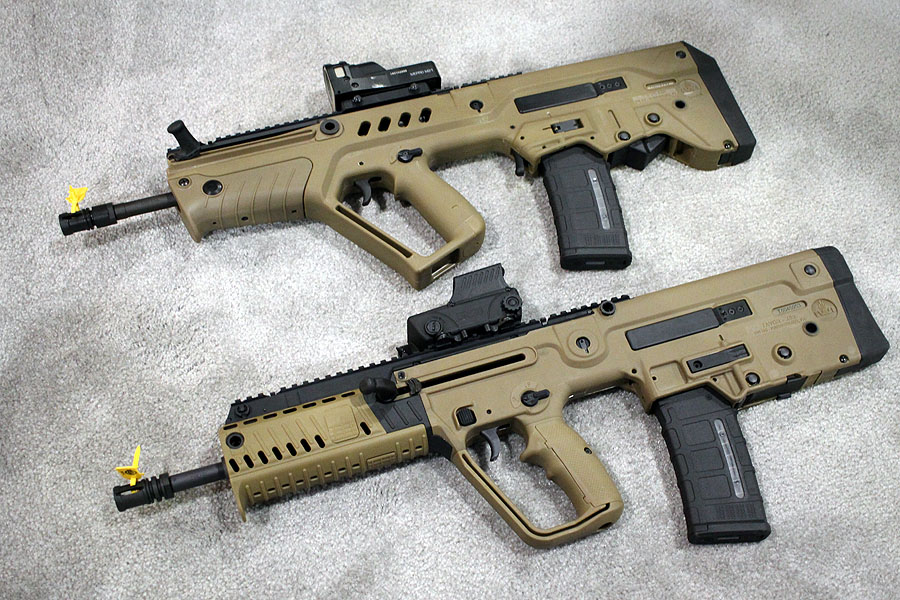 The original Tavor and the new X95.