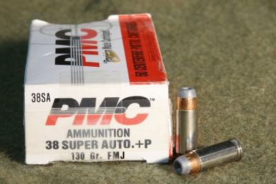 .38 Super PMC FMJ and Winchester JHP (All .38 Super is +P)