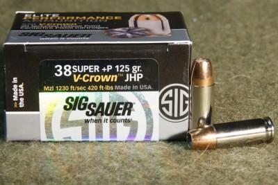 Sig Sauer .38 Super JHP Personal Defense
